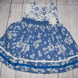 Blue & white flowers dress 3-4 years