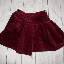 Red velvet skirt 3-4 years