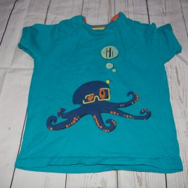 Turquoise octopus t-shirt 3-4 years