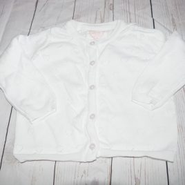 White heart cardigan 18-24 months