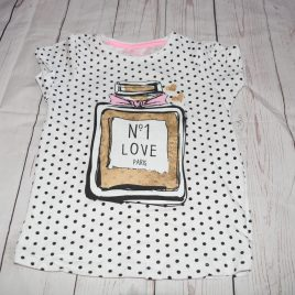 White spotty t-shirt 4-5 years