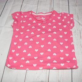 Pink hearts t-shirt 18-24 months