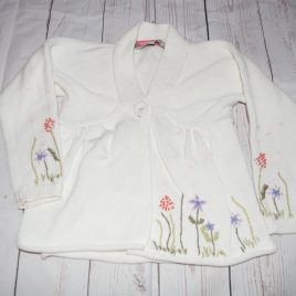 Rocha John Rocha cream flowers cardigan 4 years