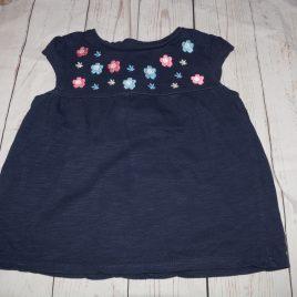 Navy flowers t-shirt 3-4 years
