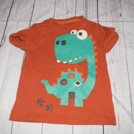 Orange dinosaur t-shirt 2-3 years