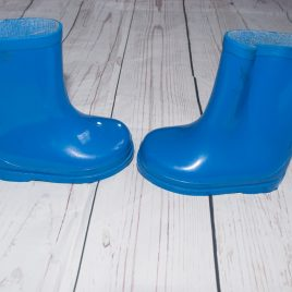 Blue wellington wellie boots size 4