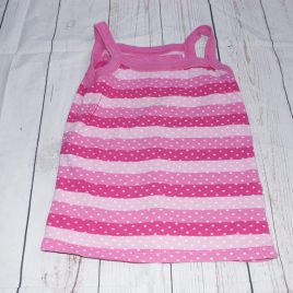 Pink stripy vest top 4-5 years
