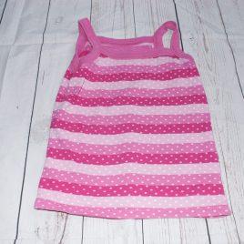 Pink stripy vest top 4-5 years
