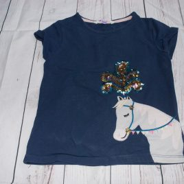John Lewis navy horse sequin t-shirt 5 years