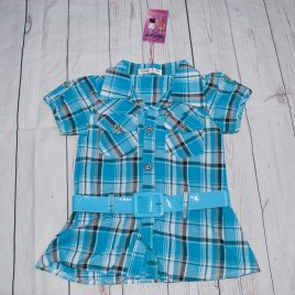 New with tags turquoise belted shirt tunic 4 years