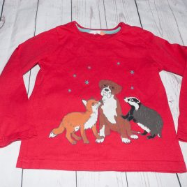 John Lewis red Buster dog top 4 years