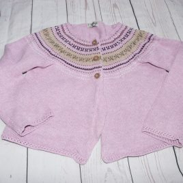 Next purple fair isle cardigan 3-4 years