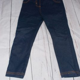 Navy jeggings 3-4 years