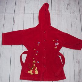 Winnie The Pooh red dressing gown 2-3 years