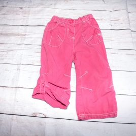 Next pink roll leg trousers 12-18 months
