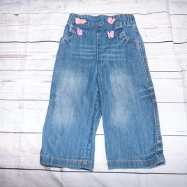 Next jeans with pink bows 12-18 months