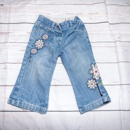 M&S embroidered flower jeans 12-18 months