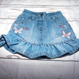 Next denim butterfly skirt 12-18 months