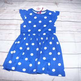 New blue spotty dress 4-5 years