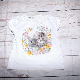 H&M Cat & bunny t-shirt 18-24 months