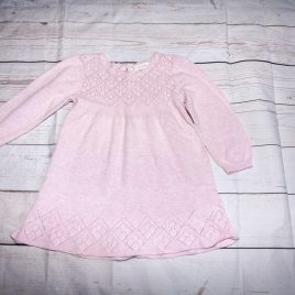 Next pink knitted dress 12-18 months