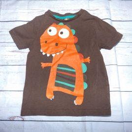 Brown dinosaur t-shirt 2-3 years