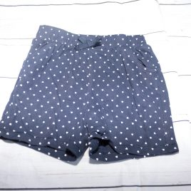 Navy shorts with white hearts 3-4 years
