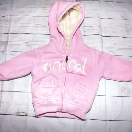 Animal pink fluffy lined hoodie 2 years