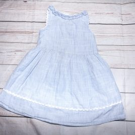 Next blue & white stripy dress 12-18 months