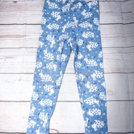 Boden blue bunny rabbit leggings 3-4 years