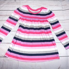 GAP pink & grey stripy tunic top 4 years