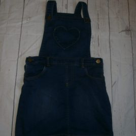 Soft denim pinafore dress 4-5 years