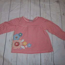 Pink flowers stripy top 12-18 months