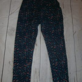 Navy paint splash leggings 3-4 years