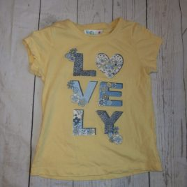 Yellow 'lovely' t-shirt 4-5 years