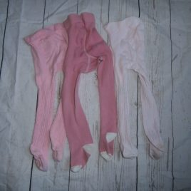 x3 pink tights 12-18 months