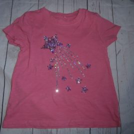 Next pink sequin stars t-shirt 5 years