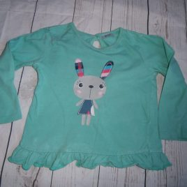 Green bunny top 12-18 months