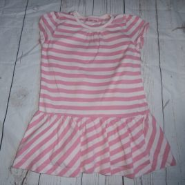 Pink stripy dress 12-18 months