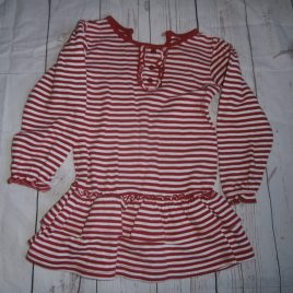 Red & white stripy dress 12-18 months