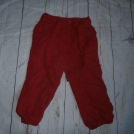 Red trousers 12-18 months