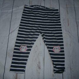 Navy stripy cat leggings 12-18 months