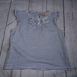 John Lewis navy & white stripes t shirt 12-18 months