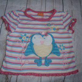 Owl & stripes t shirt 12-18 months