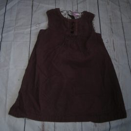 Dark purple cord pinafore dress 12-18 months