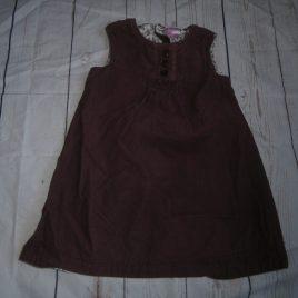Dark purple cord pinafore dress 12-18 months