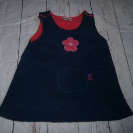 Navy fleece pinafore dress 12-18 months