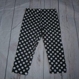 Black spotty leggings 12-18 months