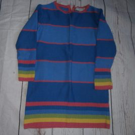 M&S knitted rainbow dress 12-18 months