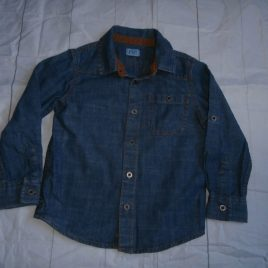 Denim style long sleeve shirt 2-3 years